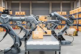 Robots Operating In Warehouses With Industry4.0